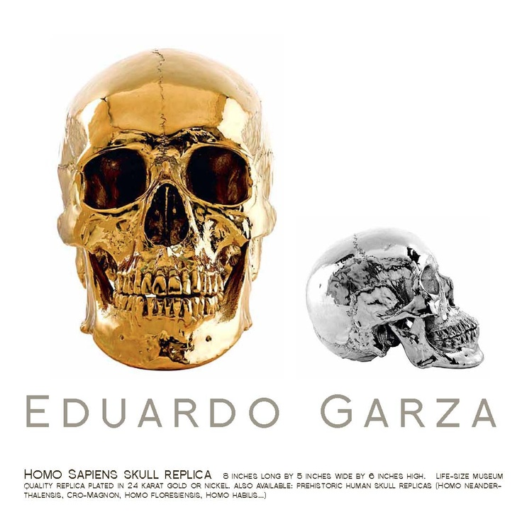 "Eduardo Garza  ""Homo Sapien Sapien"" . Life-Sized Replica dipped in Gold or Nickel www.eduardogarza.com"
