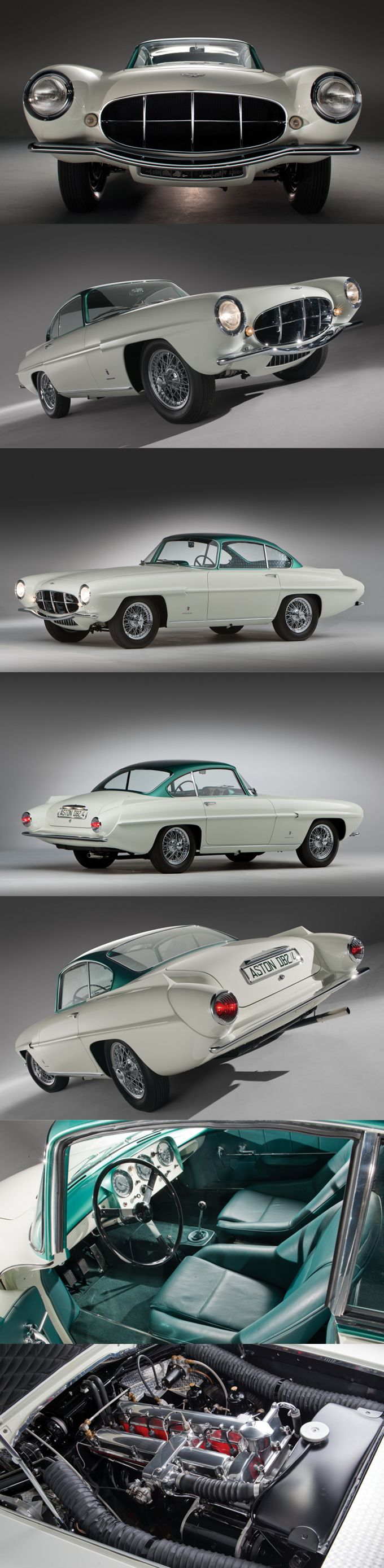 1956 Aston Martin DB2/4 Ghia 'Supersonic' / UK Italy / green white / 17-247