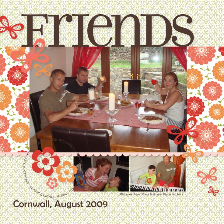 Friends Scrapbook page using MDS (My Digital Studio) - by Kylie Swain. https://www.facebook.com/BlossomDesigns2