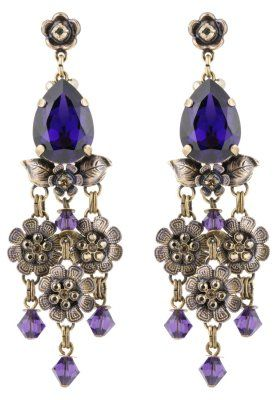 KONPLOTT Eternal Glory Purple Konplott Antique Brass Earrings