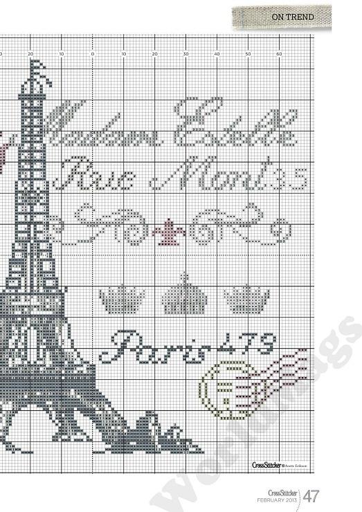 (2) Gallery.ru / Photo # 47 - 262 - miroslava388 Balance of Eiffel  tower chart
