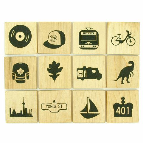 Toronto Memory Game - mini mioche - organic infant clothing and kids clothes - made in Canada