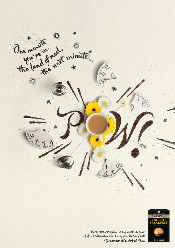Twinings Tea press campaign advert (design 1 of 3) by Alison Carmichael.