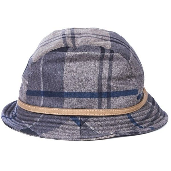 Women's Barbour Winter Tartan Trench Hat - Navy Tartan (£24) ❤ liked on Polyvore featuring accessories, hats, barbour, navy blue hat, navy hat, plaid hat and barbour hats