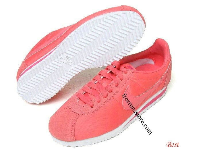 Hot Punch Shoes Pink Nike Cortez White Womens