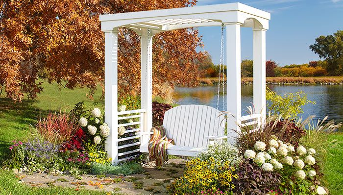 Create a special place in your yard with this arbor and swing made from common boards.