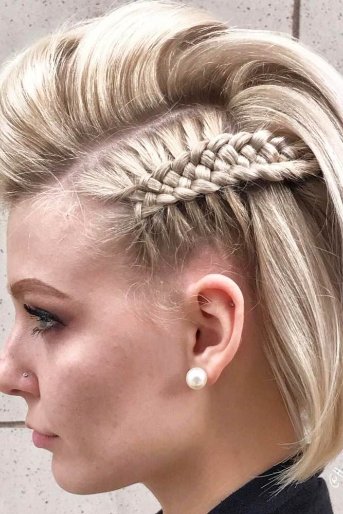 Simple Braids for Short Hair to Look Dazzling ★ See more: lovehairstyles.co…