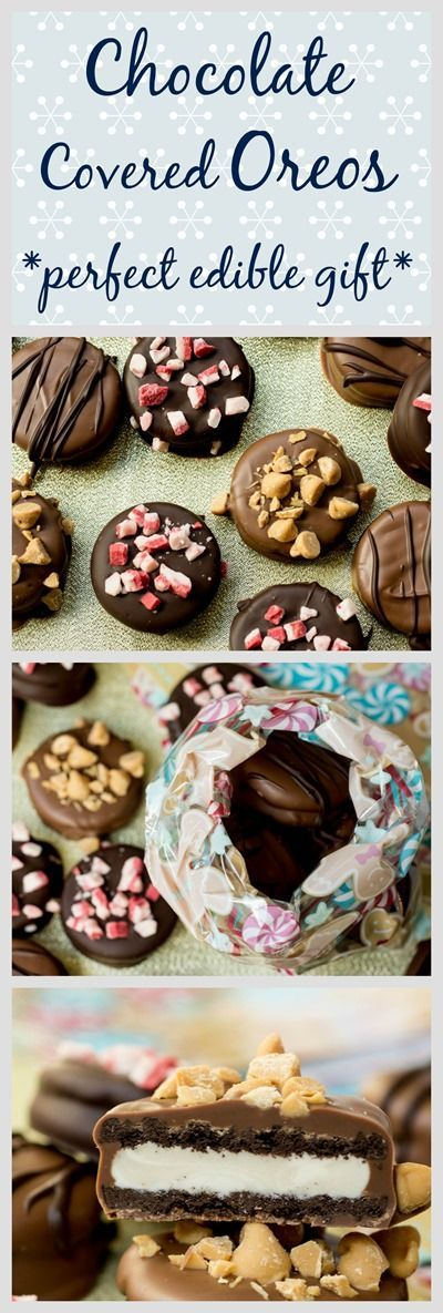 Everyone LOVES chocolate covered Oreos! Perfect homemade gift for christmas and holidays!