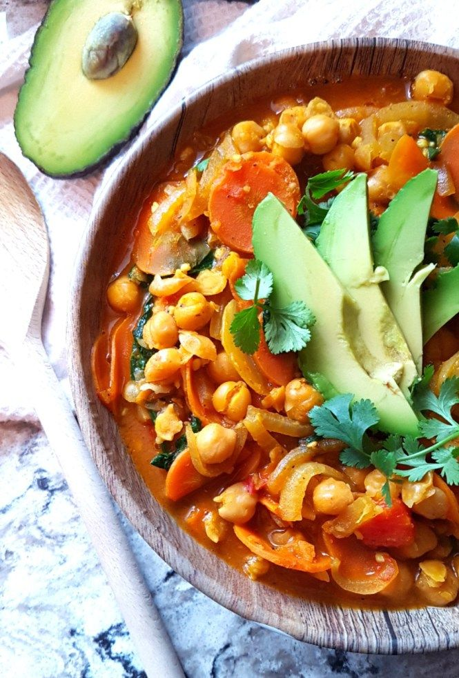 Quick Veggie Chickpea Curry - A Pinch Of Nurse