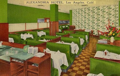 Alexandria Hotel, Los Angeles (vintage postcard)