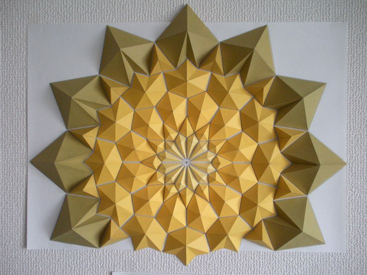 56 best origami mosaics images on Pinterest | Paper crafts ...
