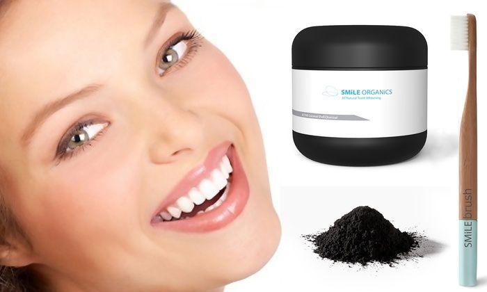Groupon Goods Global GmbH: Kit per di sbiancamento dentale smile organics da 16,90 € (fino a 70% di sconto)