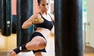Groupon - $ 29 for 10 Fitness Kickboxing Classes at Evolution Martial Arts & Fitness ($100 Value) in Memorial Hospital Neighborhood. Groupon deal price: $29