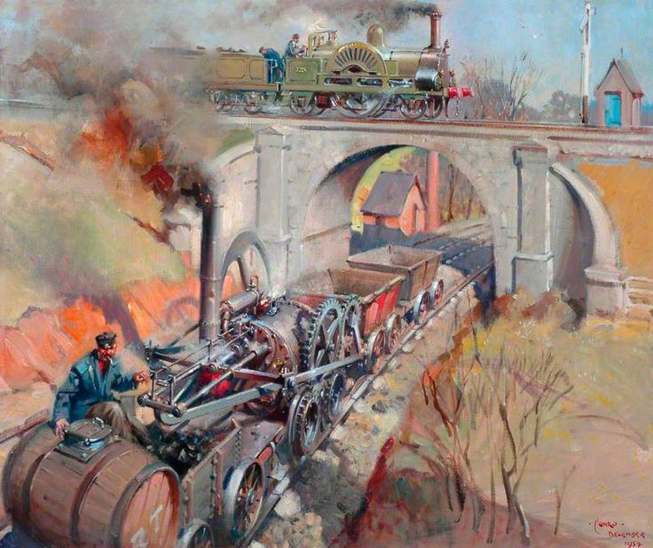 First Days of Steam by Terence Tenison Cuneo