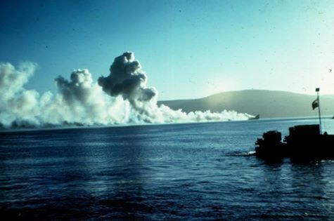 Final moments of the HMS Antelope (F-170)