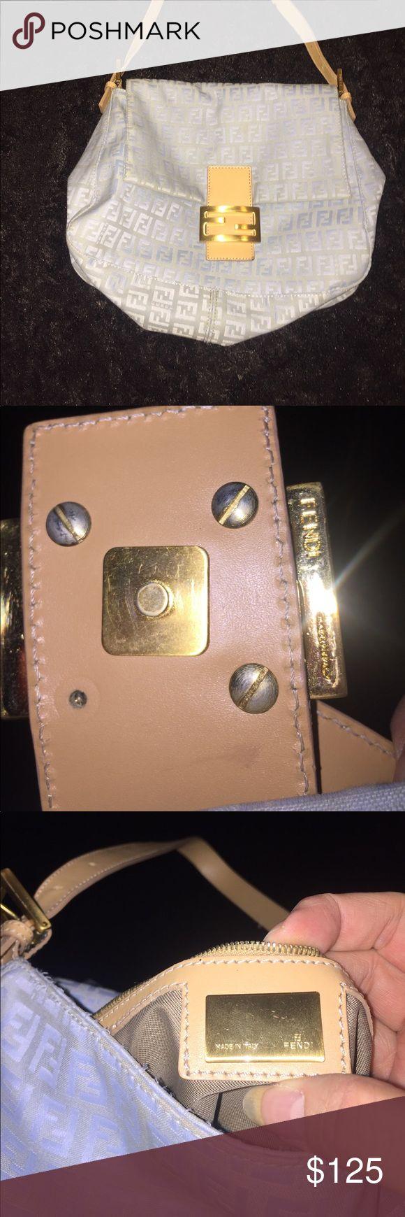 Blue Fendi purse This is a rare color Fendi shoulder handbag. In great shape and 100% authentic. Fendi Bags Shoulder Bags