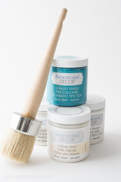 Easy Mirror refinish using Chalky Finish Paint from Americana Decor.