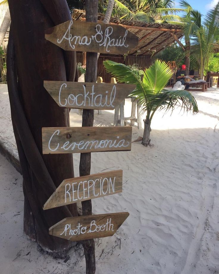 CBS118 Weddings Riviera Maya ,rustic wood sign for wedding directions /letrero personalizado con direcciones