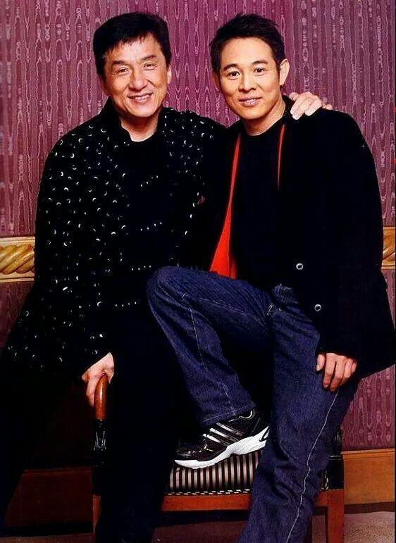 Jackie and Jet Li
