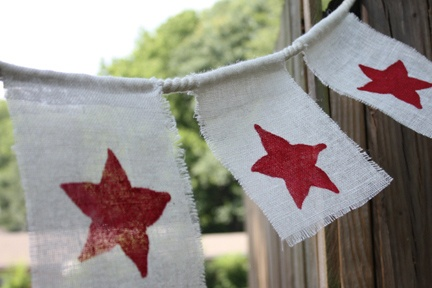 4th of July: Summer Crafts, Crafts Ideas, Fourth Of July, July Crafts, Kids Crafts, Crafts Projects, Burlap Banners, 4Th Of July, July 4Th