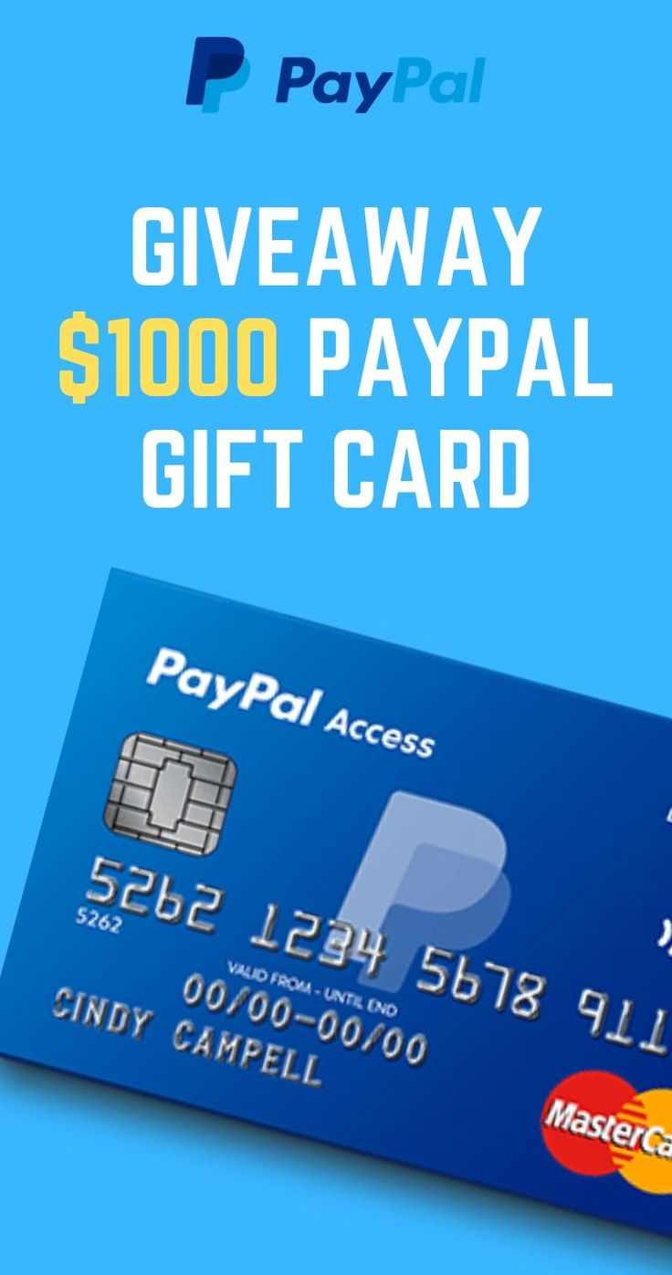 Free paypal gift card giveaway 2021 free 1000 paypal