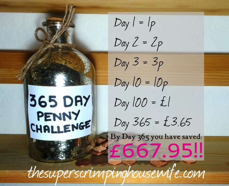 365 Day Penny Challenge - The easiest way to save £667.95! - thesuperscrimpinghousewife.com