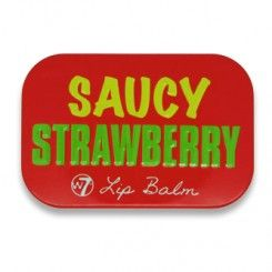 W7 Fruity Lip Balm, Saucy Strawberry