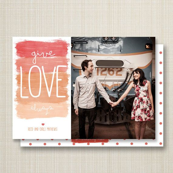 christmas card give love. by westwillow on Etsy