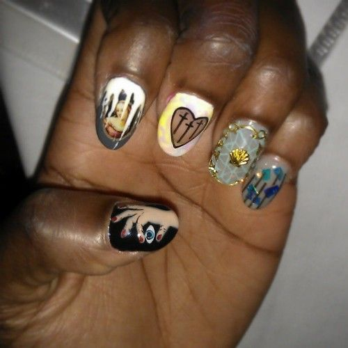 nailsbymets:  Disco Nail is just amazing…. Look @ the thumbnail...