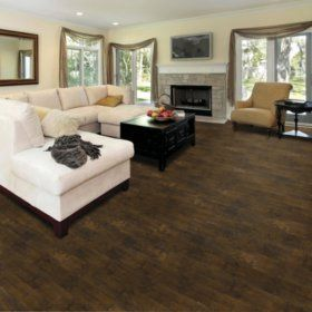Samu0027s Club   Select Surfaces Click Laminate Flooring   Vintage Walnut Part 90