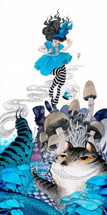 Bizarre Alice landscape -Renee Nault