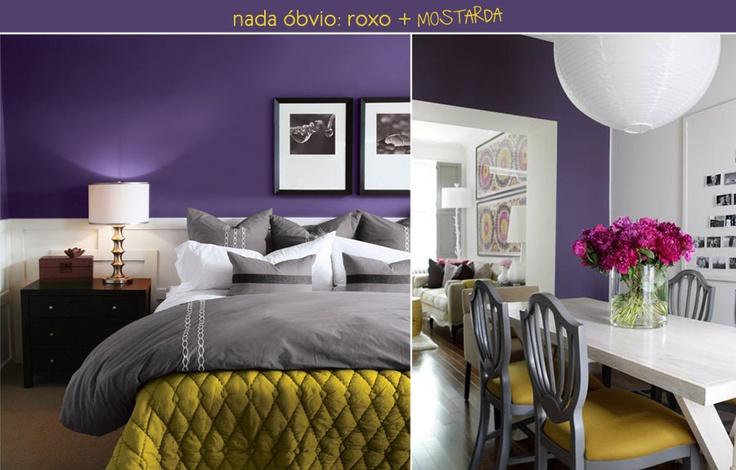Purple & White bedroom (and other rooms) - Not the biggest fan of purple but the color combo looks good in these rooms