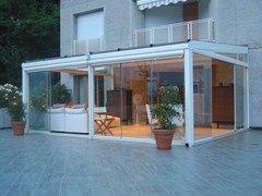 Tettoia in alluminio per giardini d'inverno FR 2000 + FR 5000 +   Tettoia per giardini d'inverno - FRUBAU