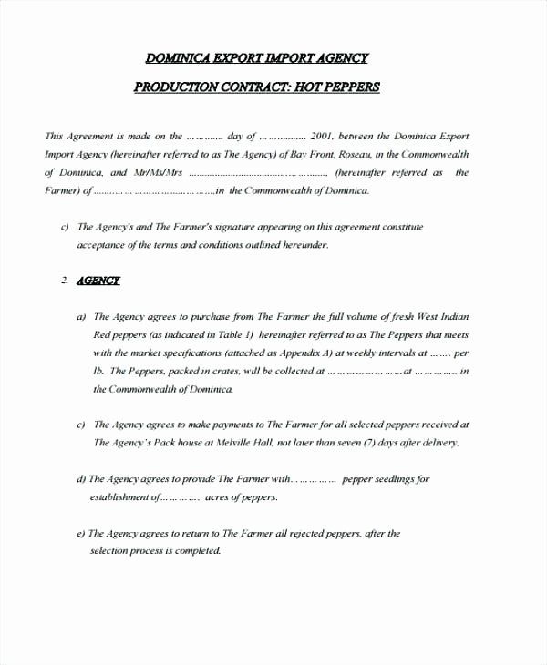 Video Production Contract Template Awesome Production Agreement Template Contract Template Contract Templates