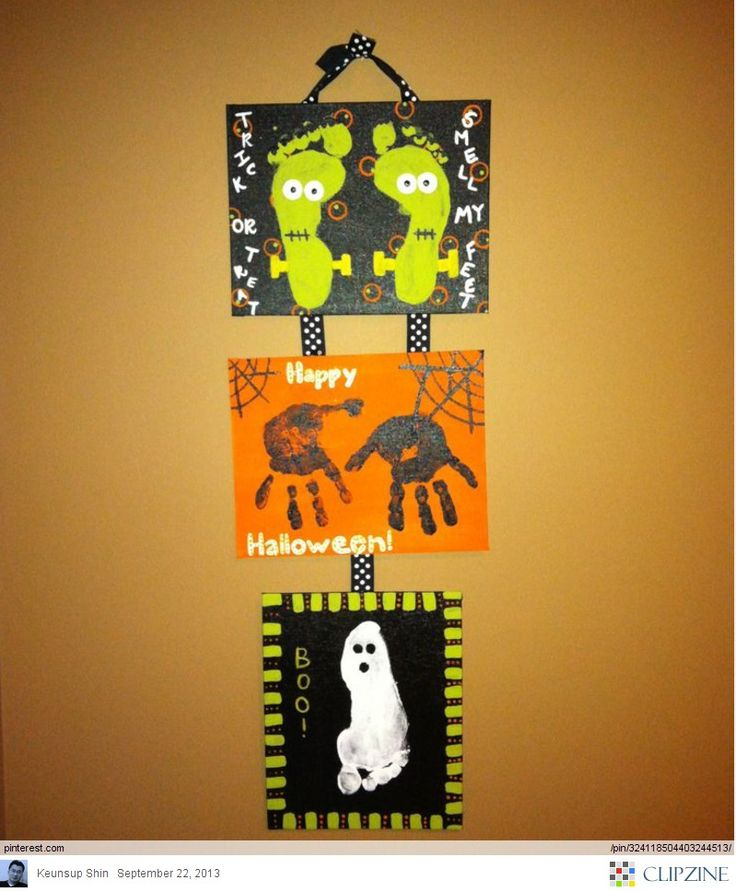 Halloween Crafts Ideas...would be cute to make the frankensteins be mom and dad...spiders two kids ...and ghosts the other two or pets.