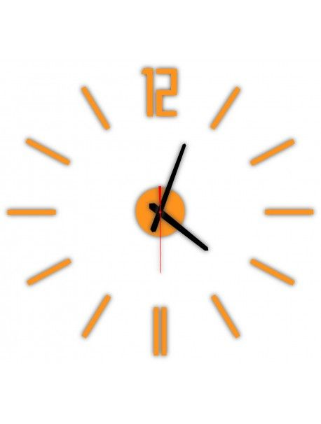 Modern wall clock LUIS, color: orange Reference:  X0019-RAL2004-BLACK hands Condition:  New product  Availability:  In Stock  Time to change! Decorating watches will revive every interior, highlight the charm and style of your space. Discover your living with new clocks. Plexiglass wall clocks are a wonderful decoration of your interior.