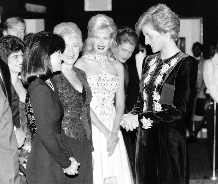Princess Diana at the UK premiere of  Steel Magnolias