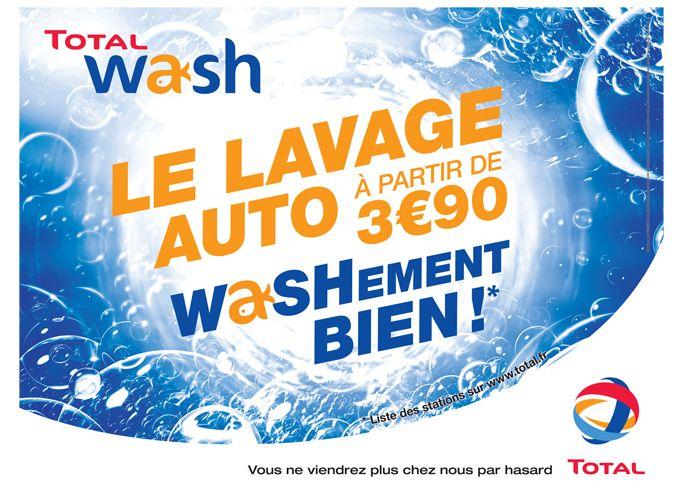 TOTAL WASH Affiche pour le lavage auto dans les stations service Total http://jameslord.fr/portfolio-item/total-wash-graphisme-affiche/