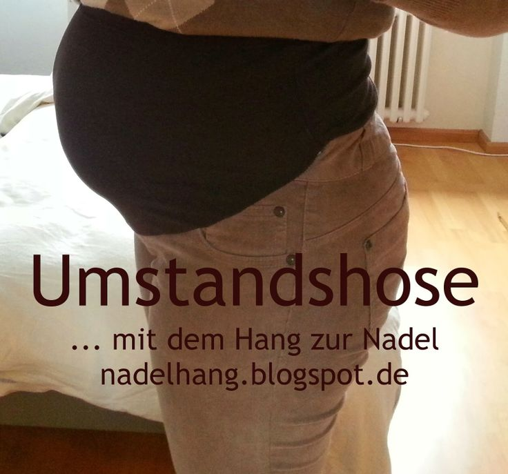 Umstandshose aus Jeans und Shirt plus Anleitung / Maternity pants made from jeans and shirt plus tutorial Upcycling