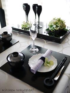 和モダンテーブルコーディネートの画像   Kitchen Whyteleaf ~からだに優しいお料理を~
