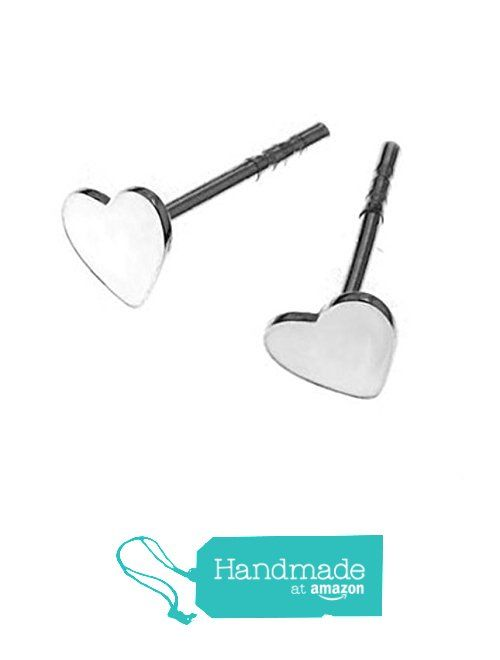 Minimal Small Sterling SIlver Heart Stud Earrings from ClutchandClasp https://www.amazon.co.uk/dp/B06XFFHTGQ/ref=hnd_sw_r_pi_dp_cdmhzb35CFNKH #handmadeatamazon