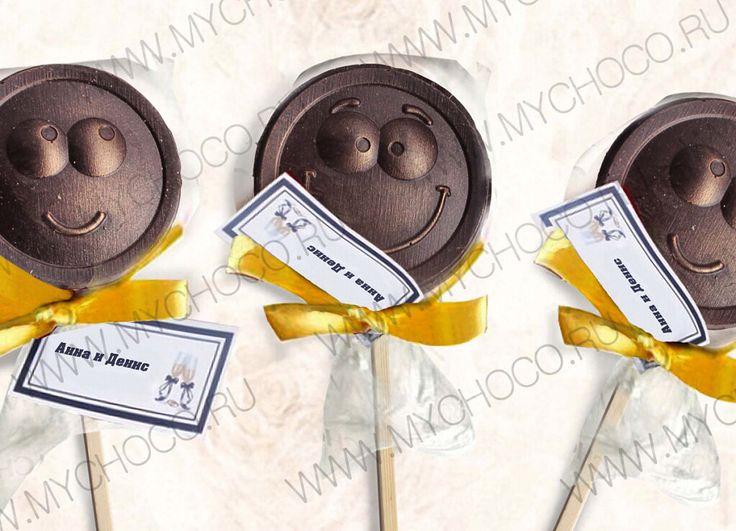 Вот такие забавные подарки для гостей на свадьбу у нас имеются. Позитивные шоколадные смайлики  #бонбоньерки #подаркигостям #подаркигостямнасвадьбу #свадьба