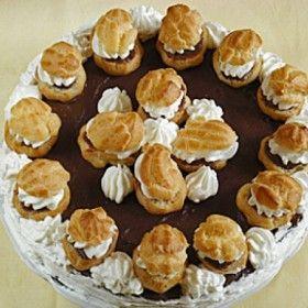 Diós-csokis fánkos torta