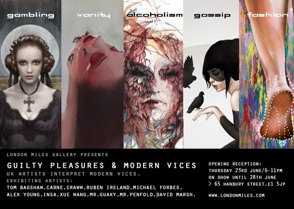 Modern vices guilty pleasures flyer