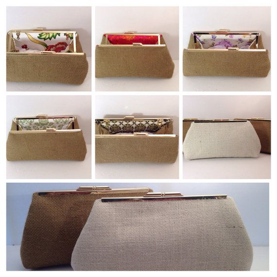 Discount for Multiple Burlap Clutch Purses (Your Choice), Wedding Clutch, Bridesmaid Gift, Custom Wedding Gifts, on Etsy, $75.00
