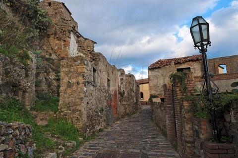 Medieval street in Savoca, Sicily.
