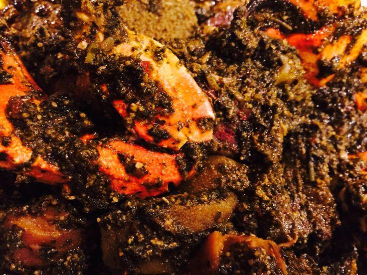 Bitter leaf food meat jerky meat