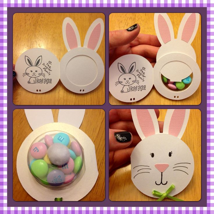 Easter Bunny sweet treat cup cards made with Silhouette Cameo. Used the circle card and bunny donut pick files from the silhouette online store and sweet treat cups by Stampin' Up.