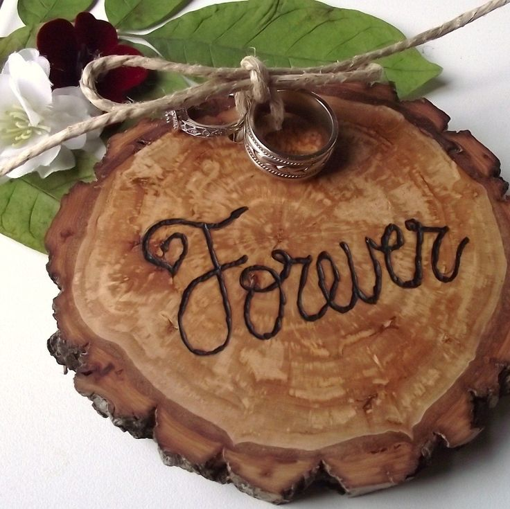 RESERVED Ring Bearer Wood Slice EcoFriendly by ARemarkYouMade
