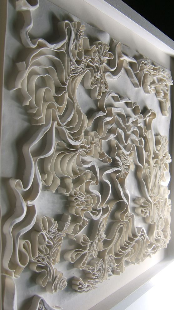 Fenella Elms - Ceramics Artist - Edges    Shapes created, 3D effect
